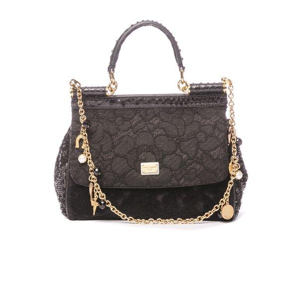 Petit sac Dolce & Gabbana couture noir