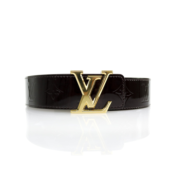 Ceinture Louis Vuitton vernis bordeaux