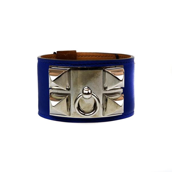 Manchette Hermès Medor bleu