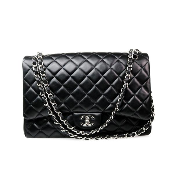 Sac Chanel Maxi jinbo noir face