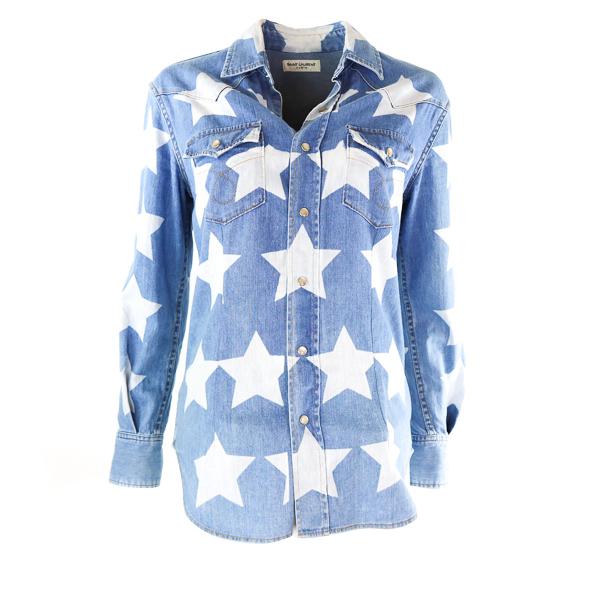 Chemise jean Saint Laurent avec étoiles