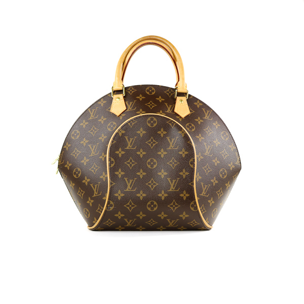 Sac Vuitton modèle grand Ellipse monogram LV marron