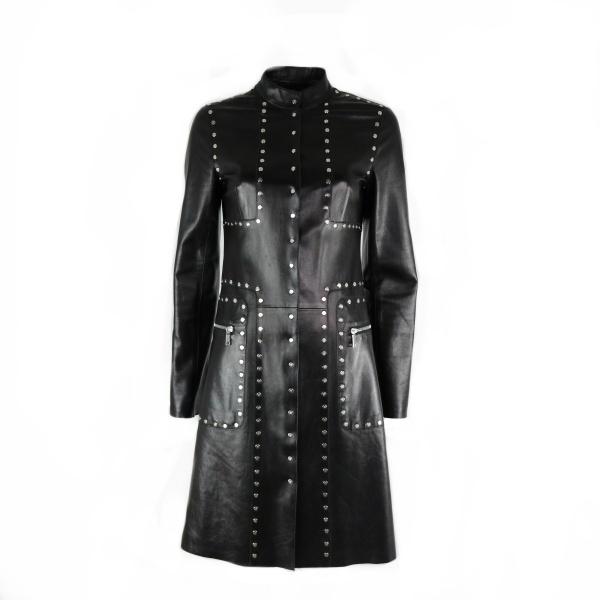 Manteau cuir Céline clouté