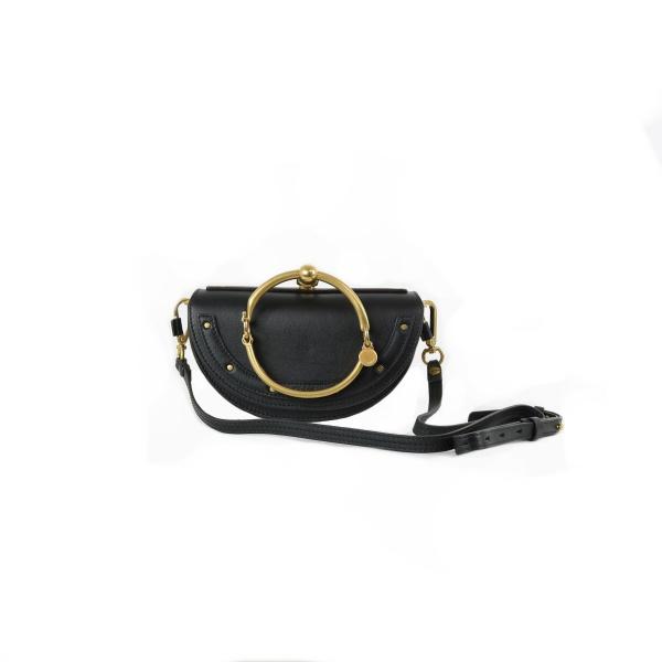Minaudière bracelet Nile Chloé noir