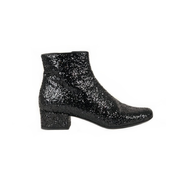 Bottines paillettes YSL profil