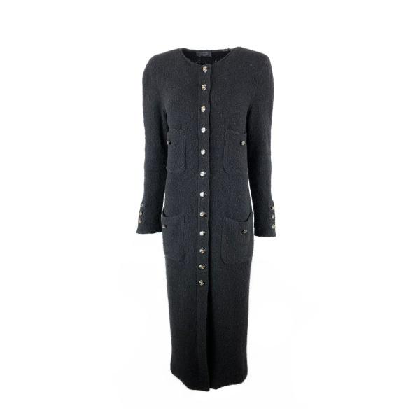 Manteau long Chanel noir