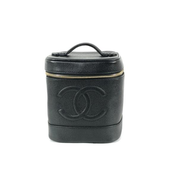 Vanity Chanel cuir grainé noir