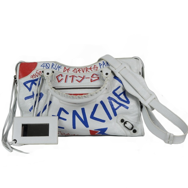Sac Balenciaga classic city graffiti face