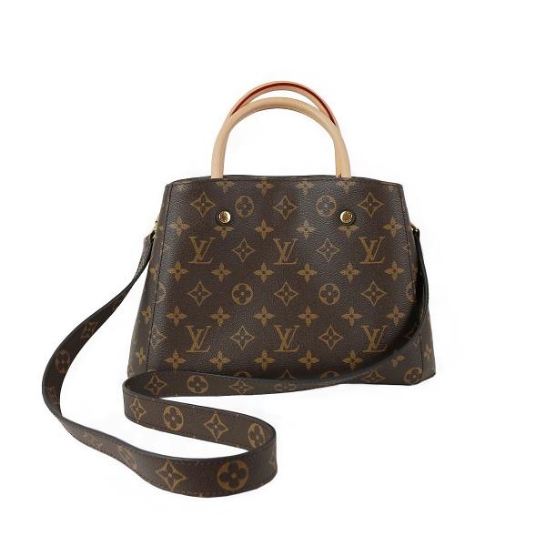 Sac Louis Vuitton Montaigne cuir damier face