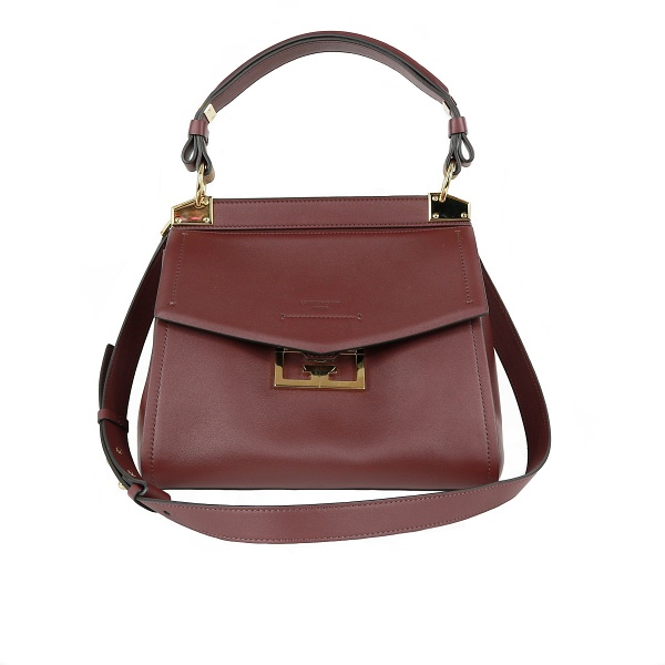 Sac Givenchy cuir bordeau face