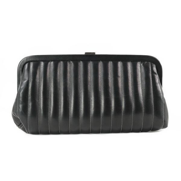 Pochette Chanel 2 cuir noir face