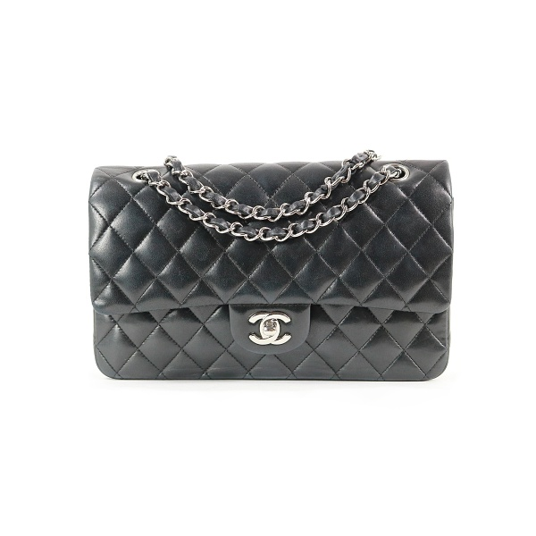 Sac Chanel timeless cuir noir face