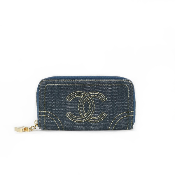 Portefeuille Chanel en jean face