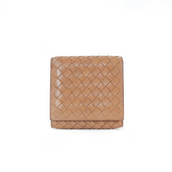 Portemonnaie Bottega Veneta cuir gold