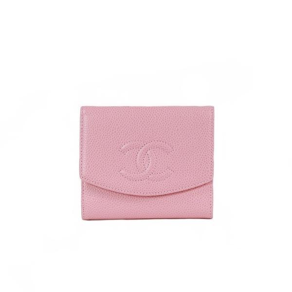 Portemonnaie Chanel cuir rose face