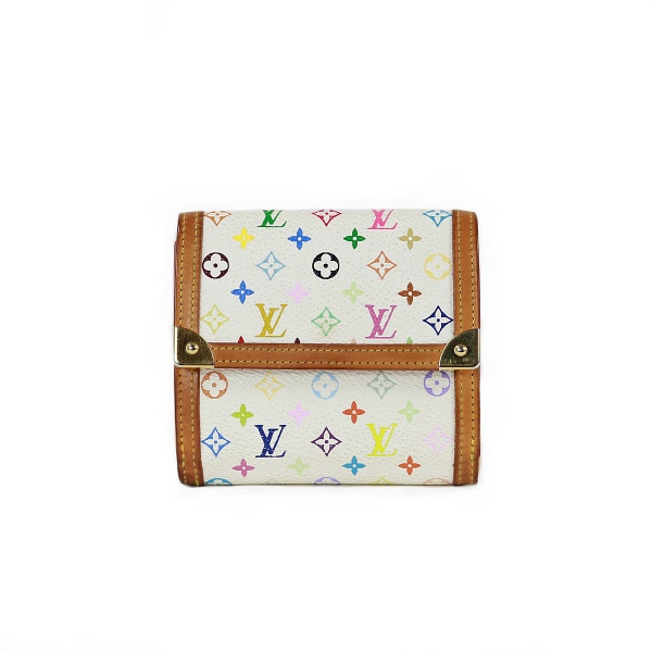 Portemonnaie Louis Vuitton cuir multicouleurs face