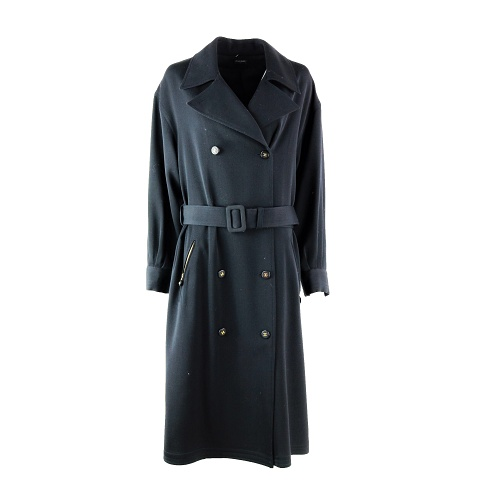 Manteau Chanel noir vintage face
