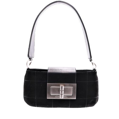 Mini Sac Chanel Daim noir face