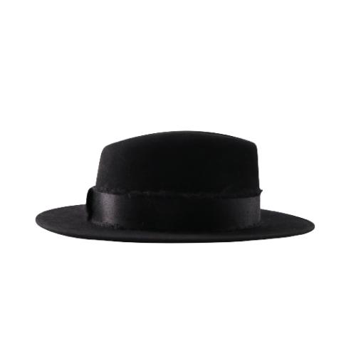 Chapeau Maison Michel noir côté