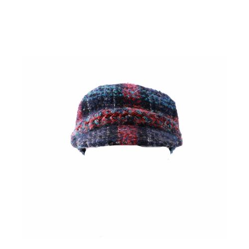 Gavroche Chanel tweed carreaux multicouleurs face